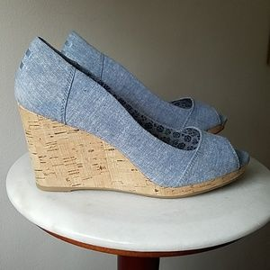 Toms Shoes - TOMS peephole wedges.